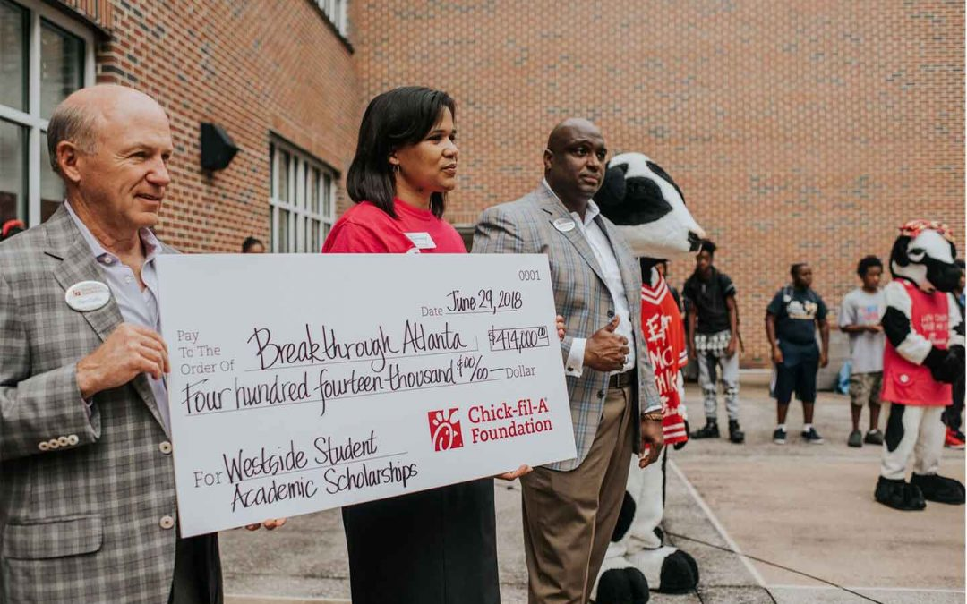 Chick-fil-A Foundation and Breakthrough Atlanta Partner to put Westside Students on a Pathway to College